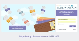 BlueWinston's affiliate program - 20% lifetime reward
