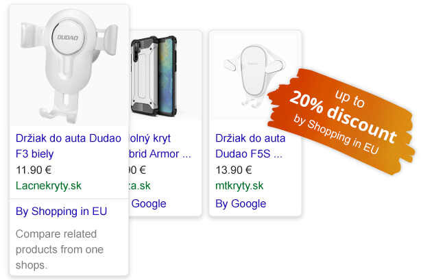Discount up to 20% for Google Shopping Ads from CSS Partnera Shopping in EU