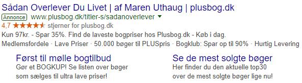 Good sample Google text ad